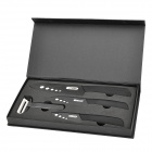 4-in-1 3'' 4'' 6''Ceramic Knives + Peeler Set - Black