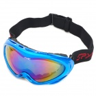 PC Frame Resin Lens Double-Layer Eyes Protection Antifog Skiing Spectacles / Goggles - Blue