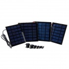 ZNOODA SW-050 4W 4-Section Folding Solar Panel Power Battery Charger for Samsung i900 - Black