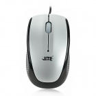 JeTech-2029 USB 2.0 Kabel 800dpi Optical Mouse - Black + Silver (150cm-Kabel)