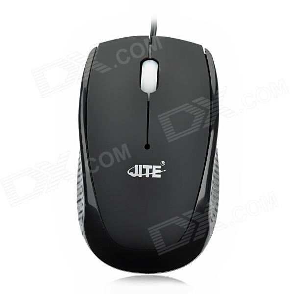 JeTech-2029 USB 2.0 Wired 800dpi Optical Mouse - Black (150cm-Cable)
