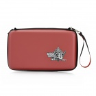 CITYWOLF Protective Artificial Leather Zippered Hard Bag w/ Strap for Nintendo Wii U - Red