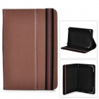 "Stylish Protective PU Leather Case for 7"" Tablet PCs - Brown"