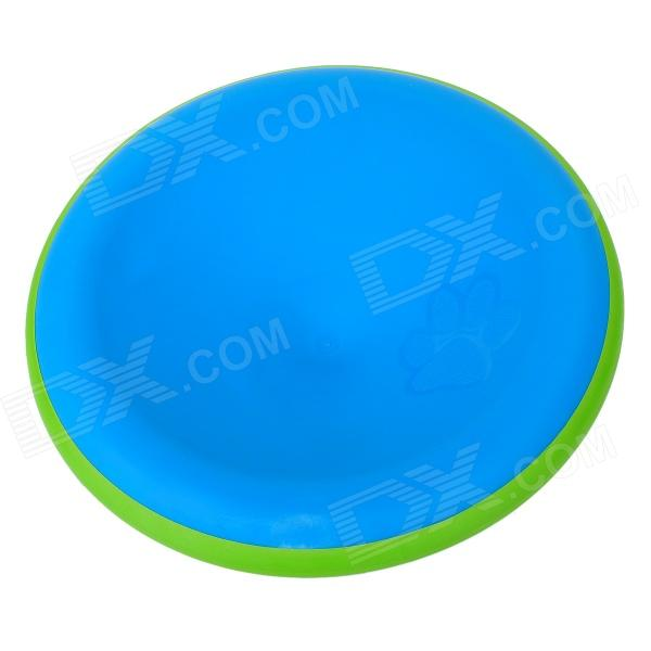 0060 Plastic UFO Frisbee Toy for Pet Dog - Green + Blue