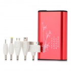 HCHC S-312 Portable 8400mAh External Battery Charger w/ LED Flashlight for iPhone 4 / 4S - Red