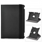 Lychee Pattern Protective Swivel PU Leather Case for Asus Transformer Pad TF700 / TF700T - Black