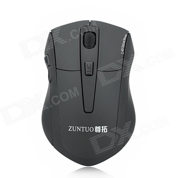 ZUNTUO ZT-301-HEISE 2.4GHz 800 / 1200 / 1600 / 2000dpi Wireless Optical Mouse - Black (2 x AAA) zuntuo zt 302 heise 2 4ghz 800 1200 1600 2000dpi wireless optical mouse black blue