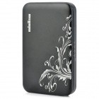 ZNOODA HD80 4200mAh Smart Solar Powered Flip-Open Battery Charger for iPod / Samsung i900 - Black