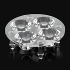 50mm 4-LED Hole Plastic Reflector Board for Cree Emitters -Transparent