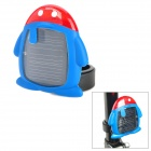 XL808 Penguin Shape Solar Power 2-LED 3-Mode Red Light Bicycle Safety Tail Light - Blue + Red
