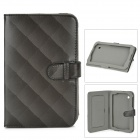ENKAY ENK-7006 Grid Pattern Protective PU Case for Samsung P3100 / P3110 / P6210 - Black