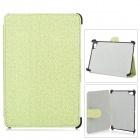 ENKAY ENK-7003 Protective PU Leather Case for Samsung P6800 / P6810 - Light Green + Black