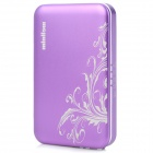 ZNOODA HD80 4200mAh Smart Solar Powered Flip-Open Battery Charger for iPod / Samsung i900 - Purple