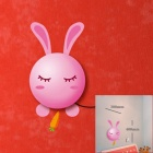 Cute Rabbit Style H11 25W LED Wall Light w/ Sticker + 2-Round-Pin Plug - Pink + White (220V)