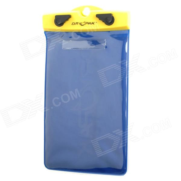 Protective TPU Water Resistant Bag for Cell Phone - Blue + Yellow