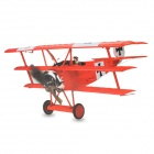 Art-Tech Fokker Dr-I 4-CH 2.4GHz Radio Control R/C Model Airplane w/ Remote Controller - Red
