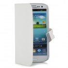 Protective Flip-open PU Leather Case for Samsung 9300 - White