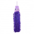 Cute Caterpillar Style Fiver Hand Cleaner Drier Towel - Purple + Light Purple