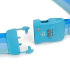 JUST LOCK TSA319C 3-Digit PC + Fiber Luggage Combination Strap Lock - Light Blue