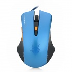 JITE JT-2047 USB Kabel 800/1000 / 2000dpi Spiel Optical Mouse - Blue + Black (170cm-Kabel)