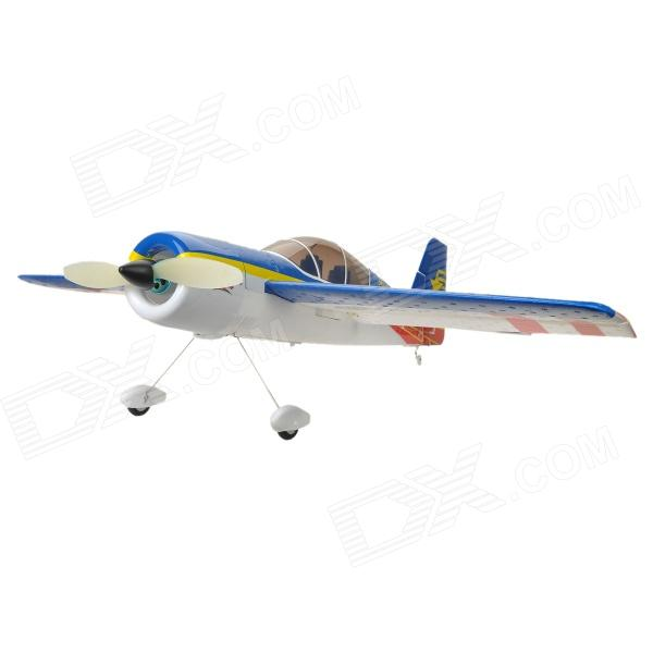 YAKE YAK-54 4-CH 2.4GHz Radio Control 3D R - C Model Airplane w - Transmitter - Blauw + Wit (Model 2