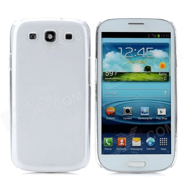 Protective Plastic Case + Screen Protector for Samsung Galaxy S3 i9300 - Transparent