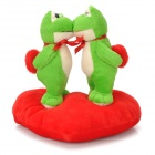 Sweat Kiss Frog Couple Doll Valentines Gift - Red + Green