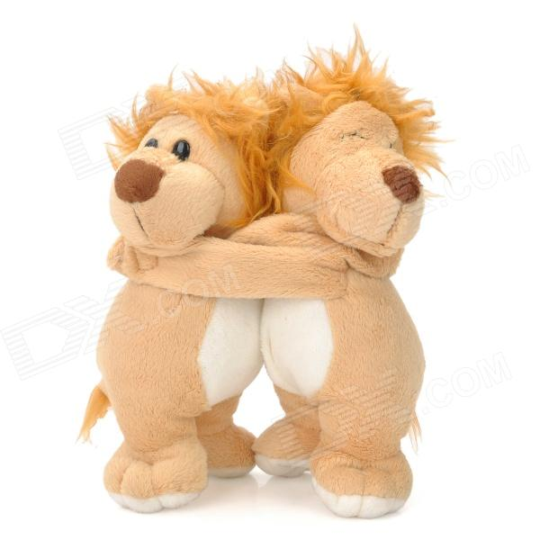 Lovely Lions Couple Doll Decoration - Beige