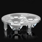 48.16mm 3-LED Hole Plastic Reflector Board for Emitters - Transparent