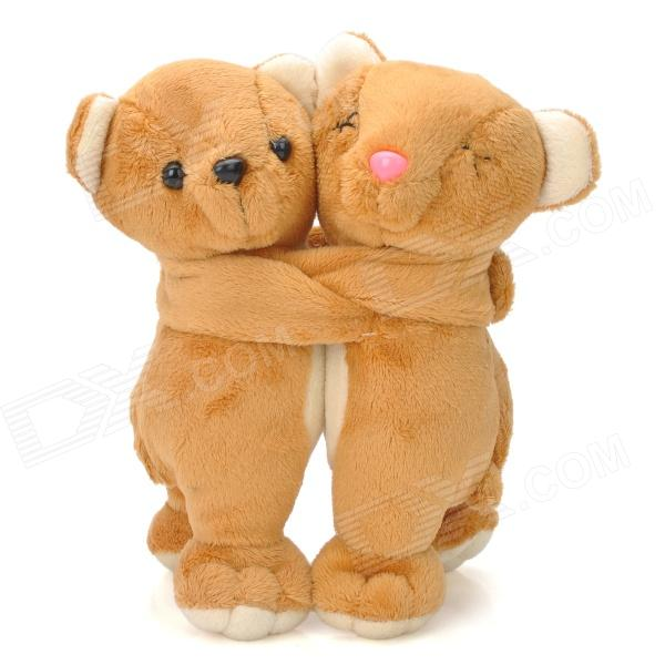 Lovely Bear Couple Doll Decoration - Brown lovely bear couple doll decoration brown