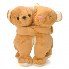 Lovely Bear Couple Doll Decoration - Brown