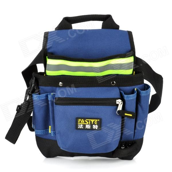 FASITE PT-N015-F Waterproof Oxford Cloth Reflective Strip Electric Toolkit Shoulder Bag - Blue quicktime toolkit volume one