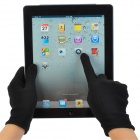 Full Palm Capacitive Screen Touching Hand Warmer Gloves - Black (Pair / Size M)