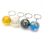 Ball Shape Magnetic Compass Keychain - Black + White + Yellow + Blue (4PCS / Pack)