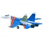 Art-Tech SU-27 Knight 4-CH 2.4GHz Radio Control Ducted Fan R/C Model Airplane w/ Transmitter - Blue