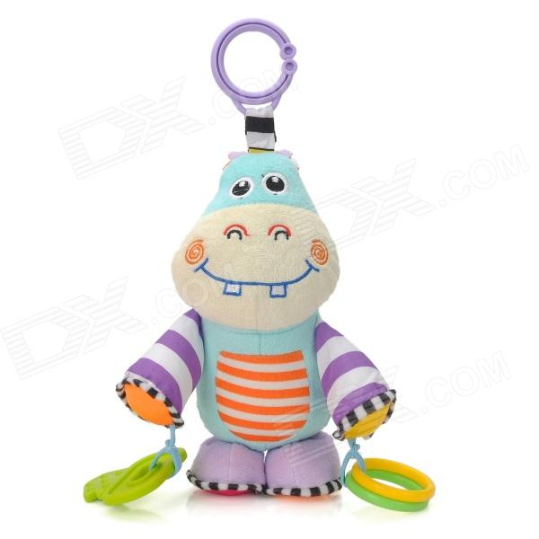 Bed Hanging Baby Bell Ringing Little Hippo Doll - Multicolored