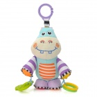 Bed Hanging Baby Bell Ringing kleine Hippo Doll - Multicolored