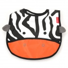 8045 Cute Cow Pattern Baby Water-Resistant Saliva Towel - Black + White + Orange