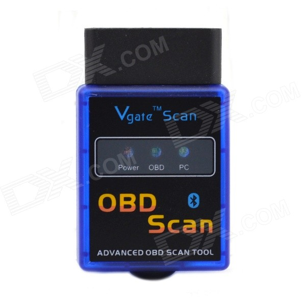 LSON ELM327 B Mini Bluetooth OBD2 V1.5 Auto Car Diagnostic Scan Tool - Blue + Black car obd scan diagnostic interface scan tool blue