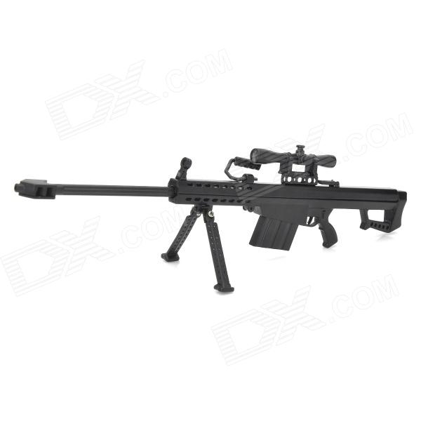 1:6 M82A1 Barrett Detachable Sniper Rifle Display Model - Black + Golden