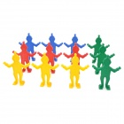 Non-Toxic Plastic Clever Clowns - Yellow + Blue + Red + Green