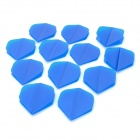PET Plastic Dart Tail Wing - Blue(12 PCS)