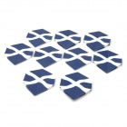 PET Plastic Dart Tail Wing - Dark Blue + White (9 PCS)