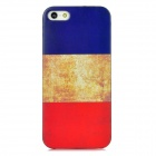 French Flag Pattern Protective Plastic Back Case for Iphone 5 - Red + White + Blue + Black
