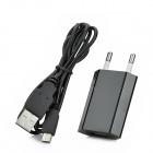 EU Plug Power Charger w/ USB Cable for Nintendo 3DSLL / 3DSXL / DSiLL / DSiXL - Black (100~240V)