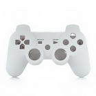 Protective Plastic Case w/ Joystick Caps / Conductive Pad Set for PS3 Wireless Controller - White