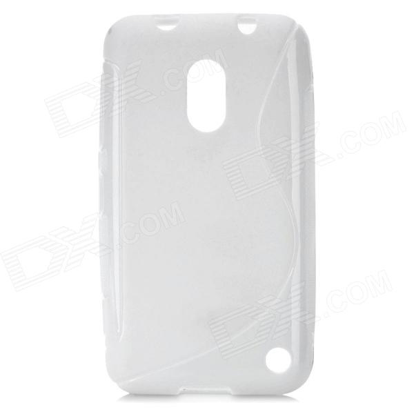 S-Line Style Protective TPU Soft Back Case for Nokia Lumia 620 - White s style protective soft tpu back case for nokia lumia 928 translucent grey