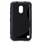 S-Line Style Protective TPU Soft Back Case for Nokia Lumia 620 - Black