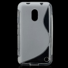 S-Line Style Protective TPU Soft Back Case for Nokia Lumia 620 - Translucent White