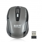 COOLTIMES M520 Wireless 2.4GHz Optical 1600dpi Game Mouse - Black + Grey (2 x AAA)